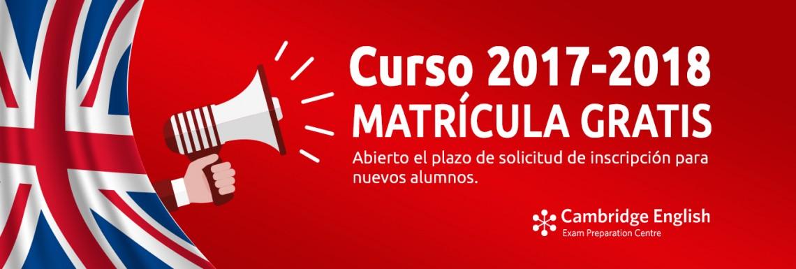Imagen de Abierto el plazo de matricula para el curso 2017/2018