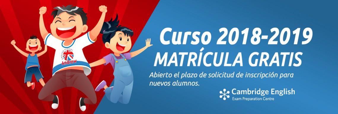 Imagen de Abierto el plazo de matricula para el curso 2018/2019
