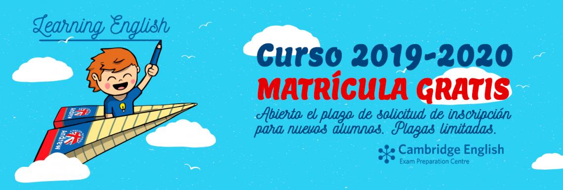 Imagen de ABIERTO PLAZO MATRÍCULA 2019 - 2020