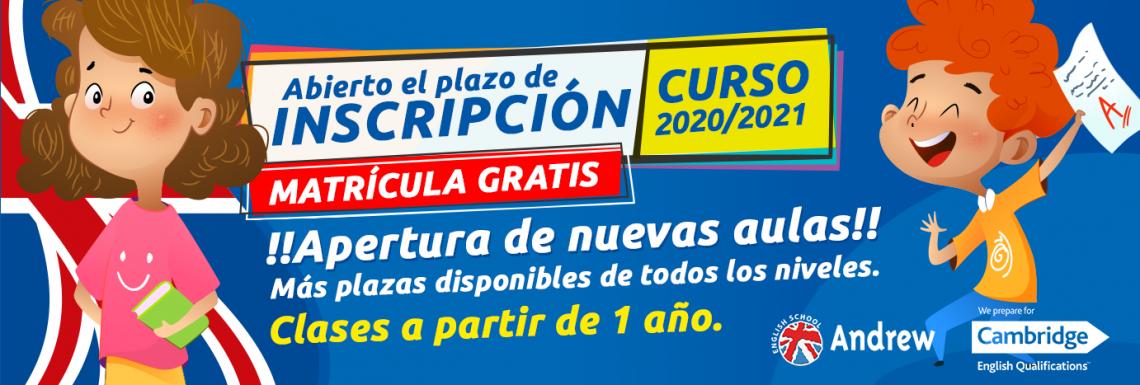 Imagen de MATRÍCULA ACADEMIA 2020