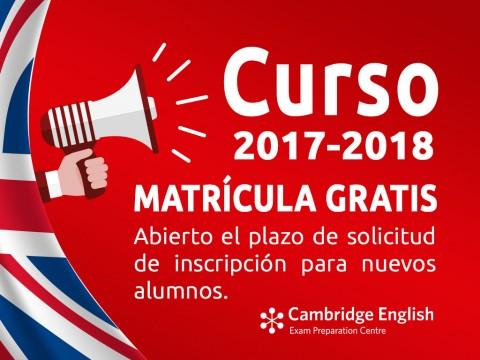 Imagen  Abierto el plazo de matrícula para el curso 2017/2018 - Andrew English School