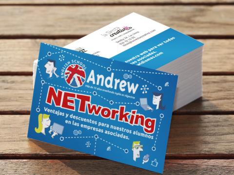Imagen  PRESENTAMOS LA NUEVA TARJETA NETWORKING DE ANDREW ENGLISH SCHOOL - Andrew English School