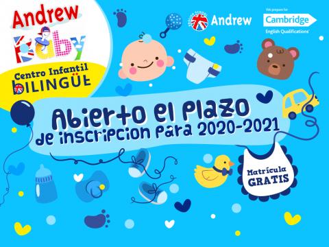 Imagen  ABIERTO PLAZO MATRÍCULA 2020 - 2021 GUARDERÍA ANDREW BABY - Andrew English School