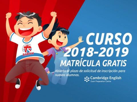 Imagen  ABIERTO PLAZO MATRÍCULA 2018-2019 - Andrew English School