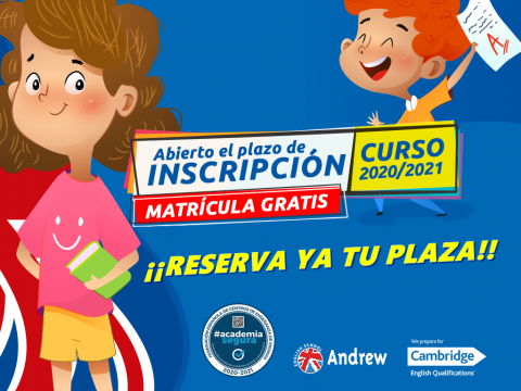 Imagen  ABIERTO PLAZO MATRÍCULA 2020 - 2021 - Andrew English School