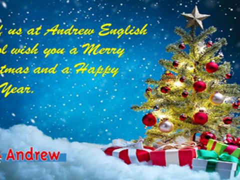 Imagen  Felicitación  Navidad 2020 - Andrew English School
