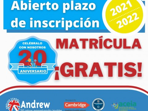 Imagen  Matriculación 2021-2022 - Andrew English School